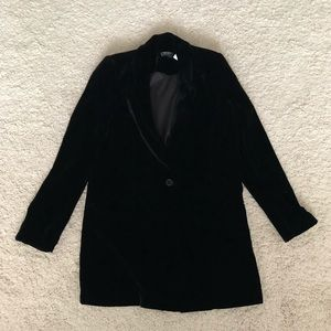 NEW with tags! Saks velvet oversized blazer